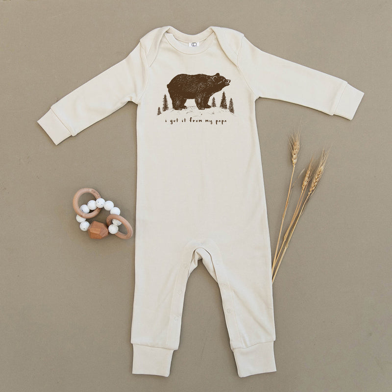 I Got It From My Papa, Bear Organic Baby Playsuit