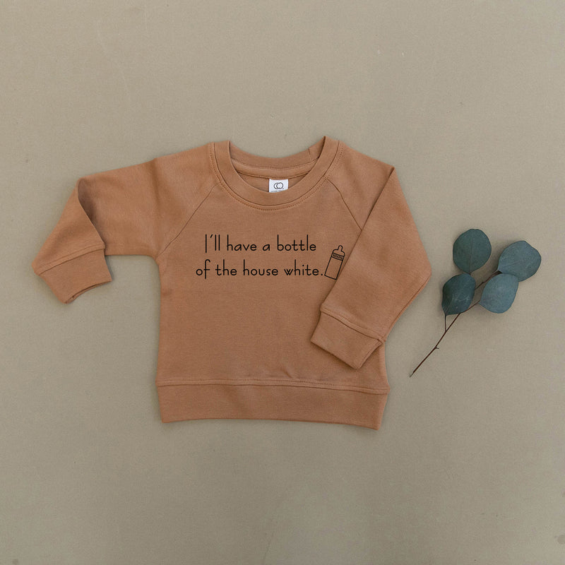 I'll Have a Bottle of The House White Wine Organic Baby & Toddler Ginger Pullover