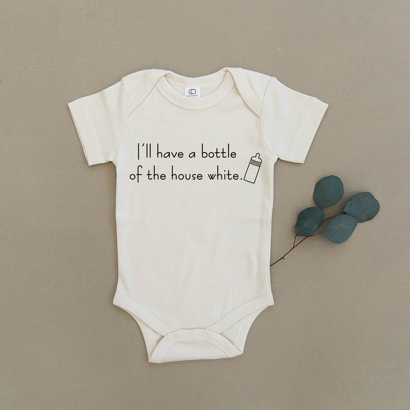 I'll Have A Bottle Of The House White Organic Baby Onesie®