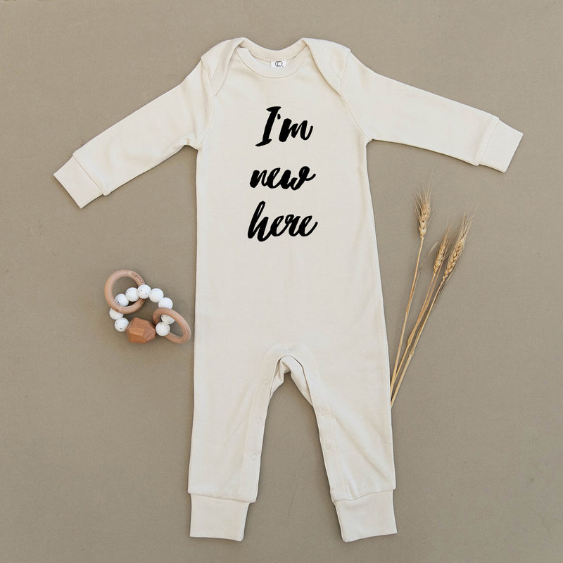 I'm New Here Organic Baby Playsuit