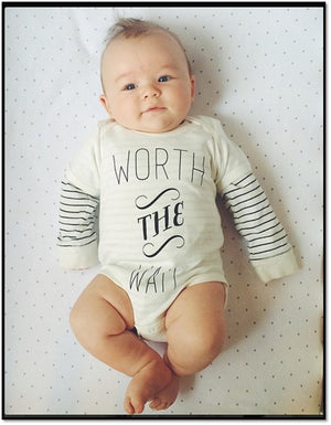 Worth The Wait IVF Organic Baby Onesie