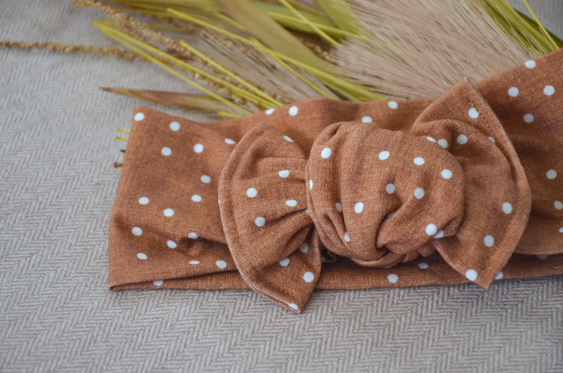 Top Knot Headwrap - Dottie
