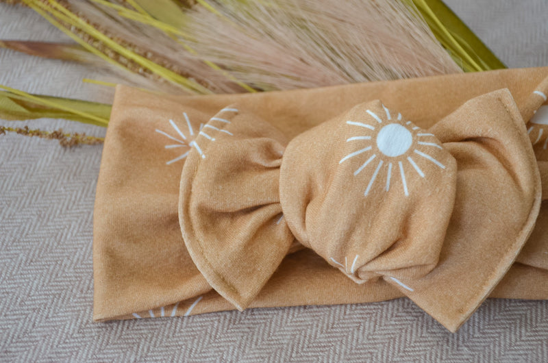 Top Knot Headwrap - Sunny
