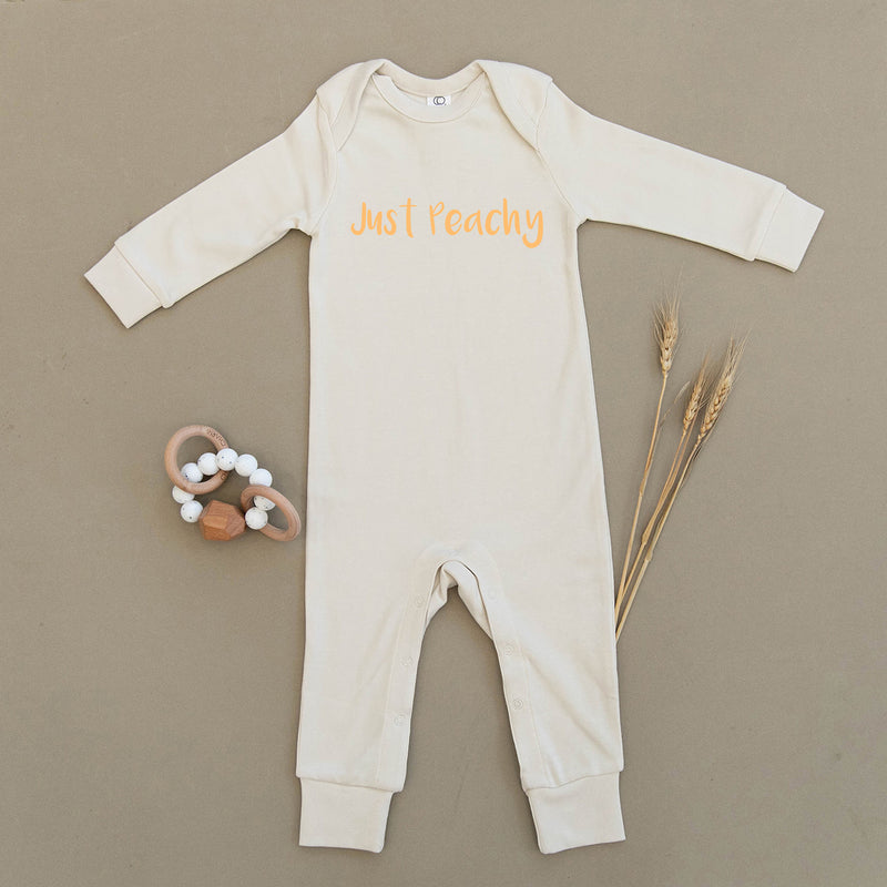Just Peachy Organic Baby Playsuit