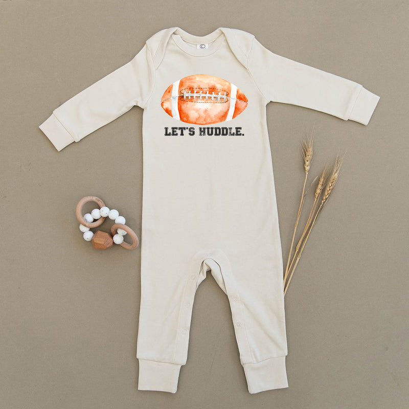 Let's Huddle Football Organic Baby Playsuit