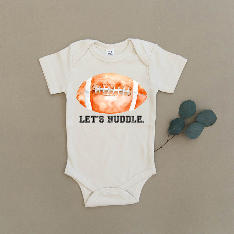 One Piece Football Toddler Newborn Playsuit Organic Infant Let/'s Huddle Outfit Unisex Bodysuit Clothes Girl Boy Baby Layette