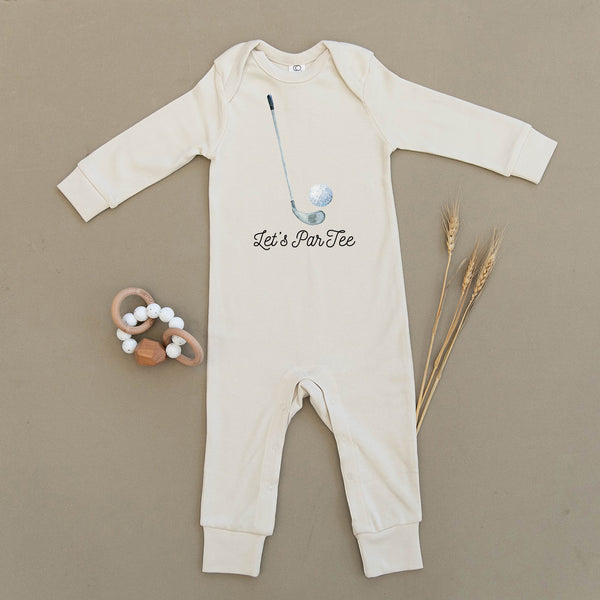 Let's ParTee Golf Organic Baby Playsuit