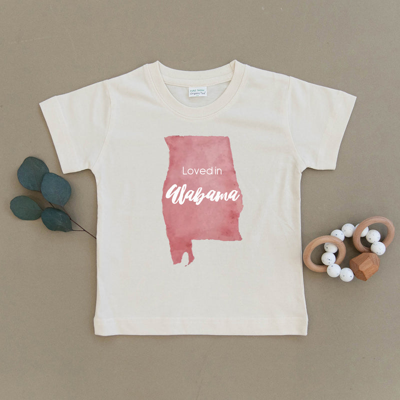 Loved in Alabama Organic Toddler Tee