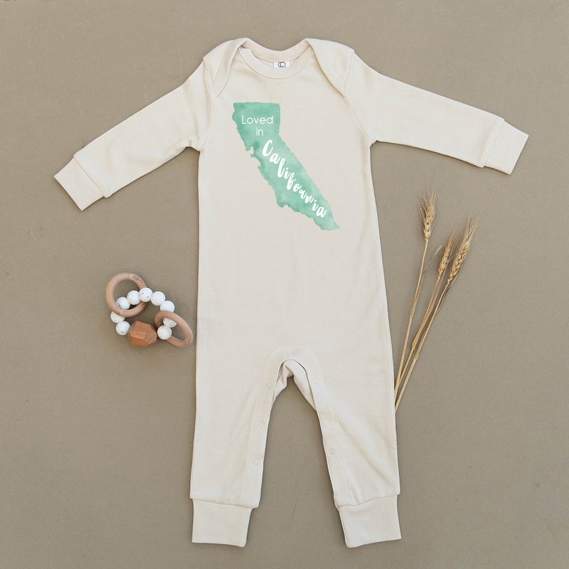 Loved in California Organic Baby Playsuit