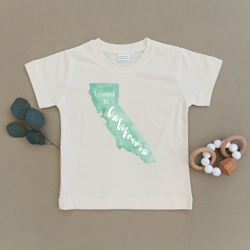 Loved in California Organic Toddler Tee