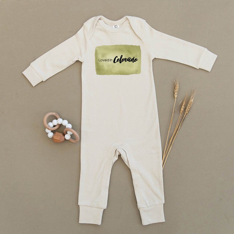 Loved in Colorado Organic Baby Playsuit