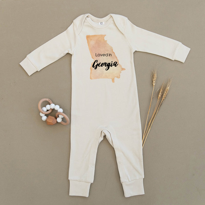 Loved in Georgia Organic Baby Playsuit
