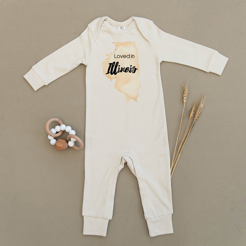 Loved in Illinois Organic Baby Playsuit