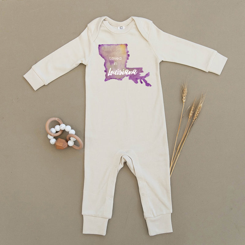 Loved in Louisiana Organic Baby Playsuit