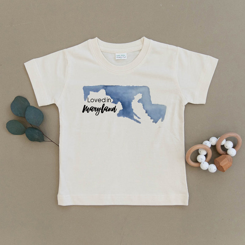 Loved in Maryland Organic Toddler Tee