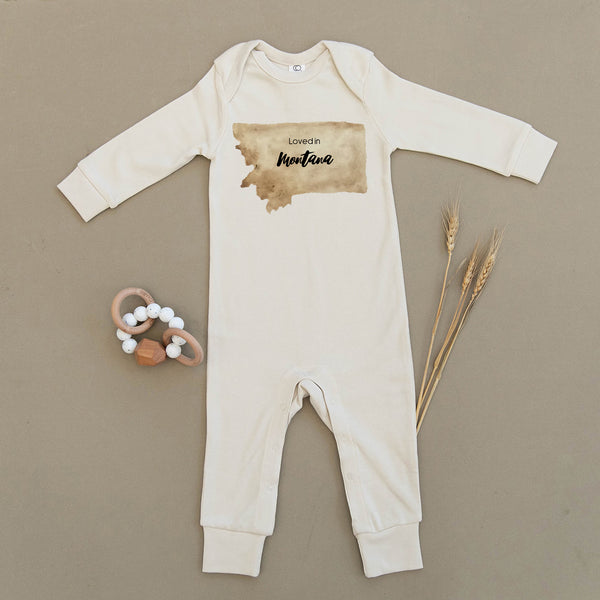 Loved in Montana Organic Baby Playsuit