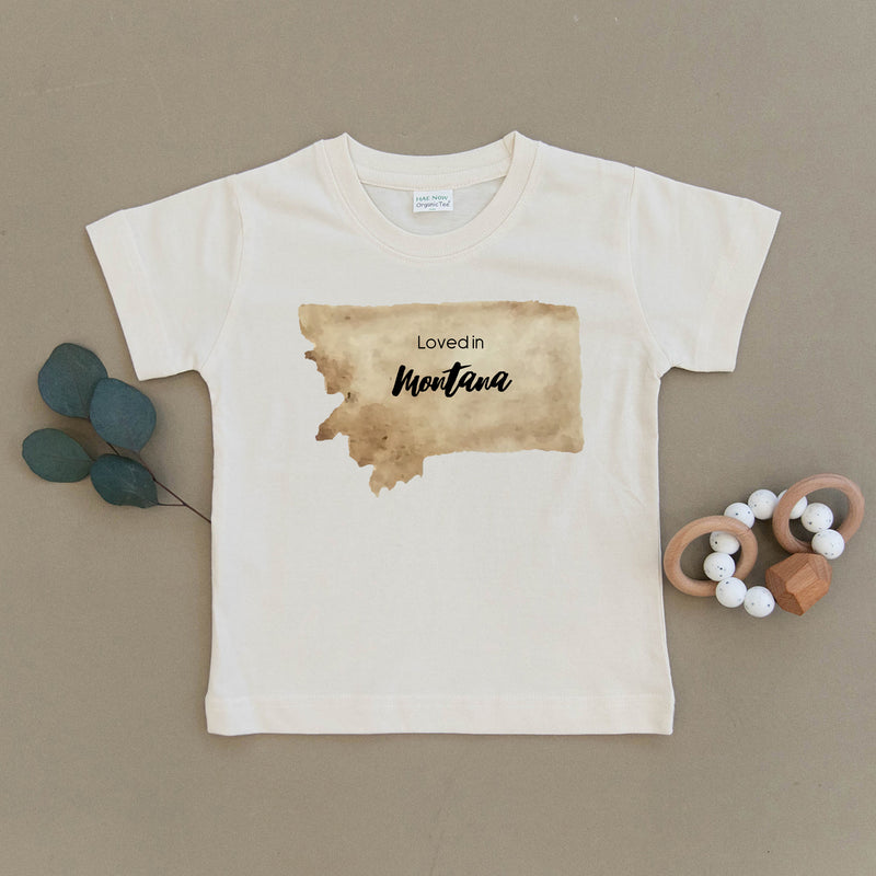 Loved in Montana Organic Toddler Tee