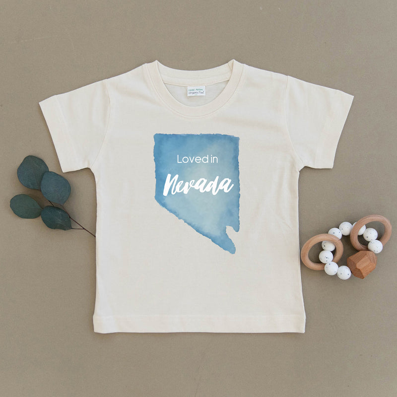 Loved in Nevada Organic Toddler Tee