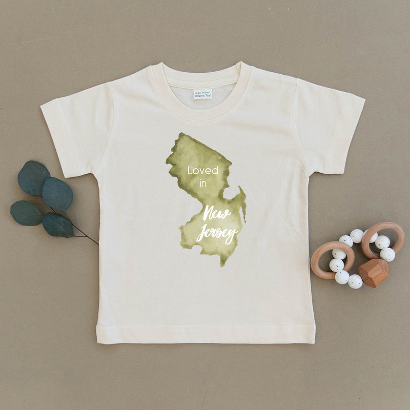 Loved in New Jersey Organic Toddler Tee