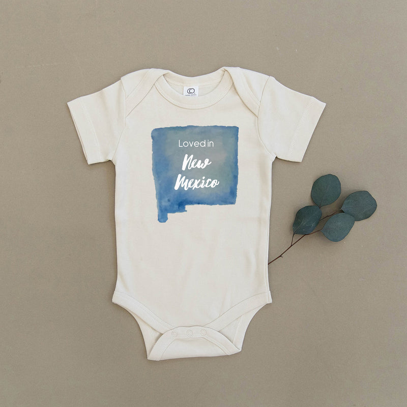 Loved in New Mexico Organic Baby Onesie®