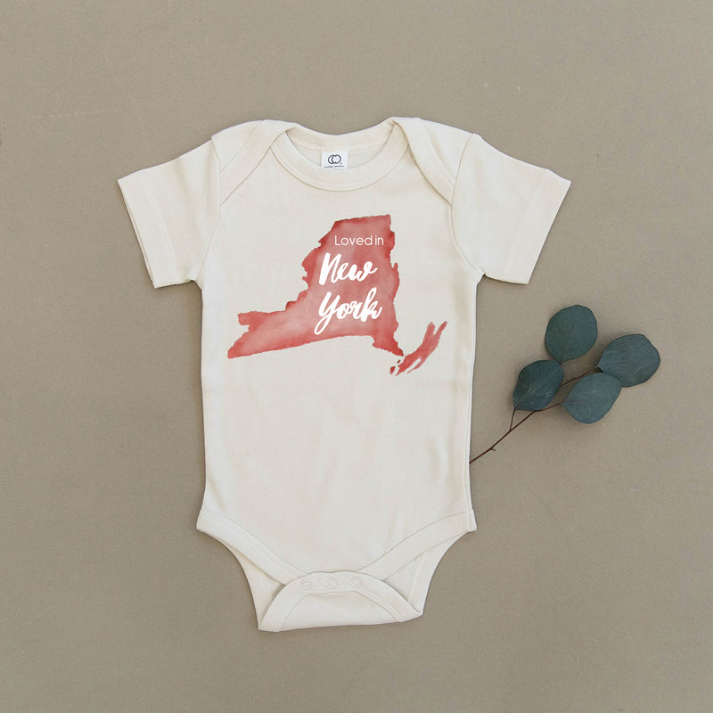 Loved in New York Organic Baby Onesie®