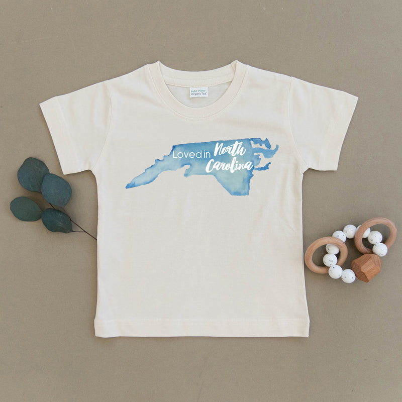 Loved in North Carolina Organic Toddler Tee