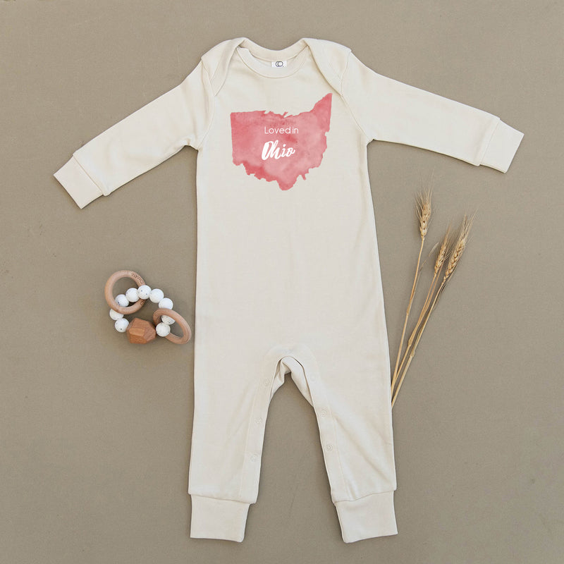 Loved in Ohio Organic Baby Playsuit