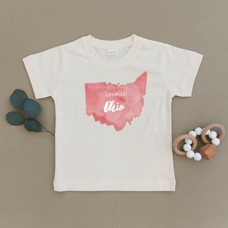 Loved in Ohio Organic Toddler Tee
