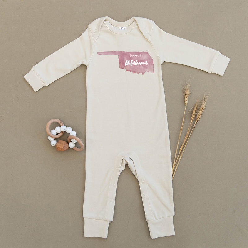 Loved in Oklahoma Organic Baby Playsuit