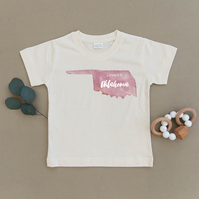 Loved in Oklahoma Organic Toddler Tee