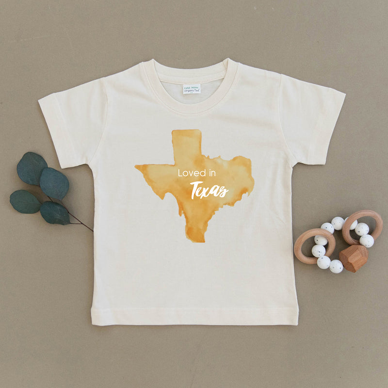 Loved in Texas Organic Toddler Tee