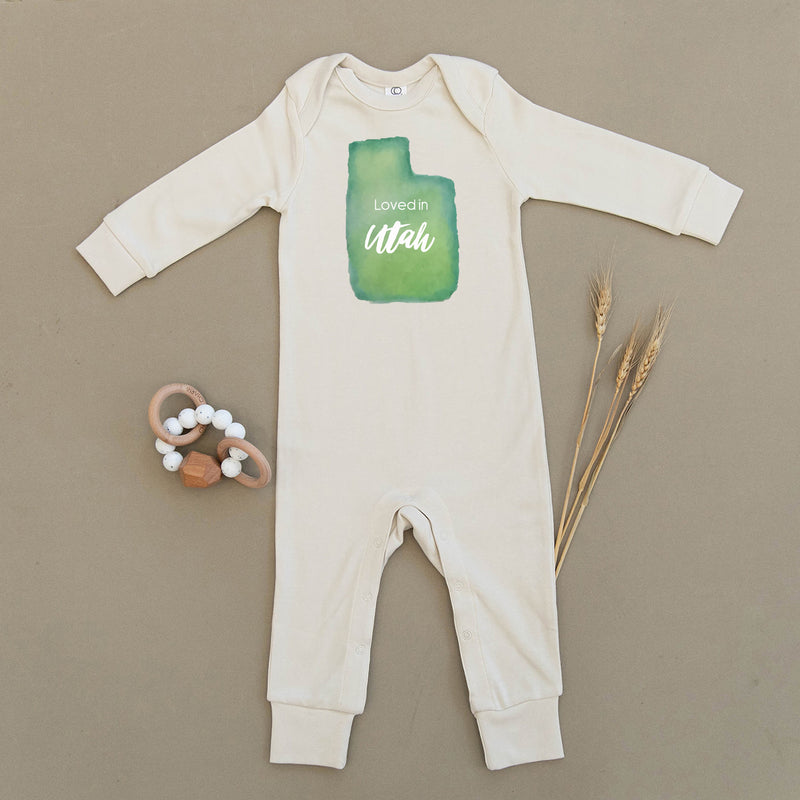 Loved in Utah Organic Baby Playsuit