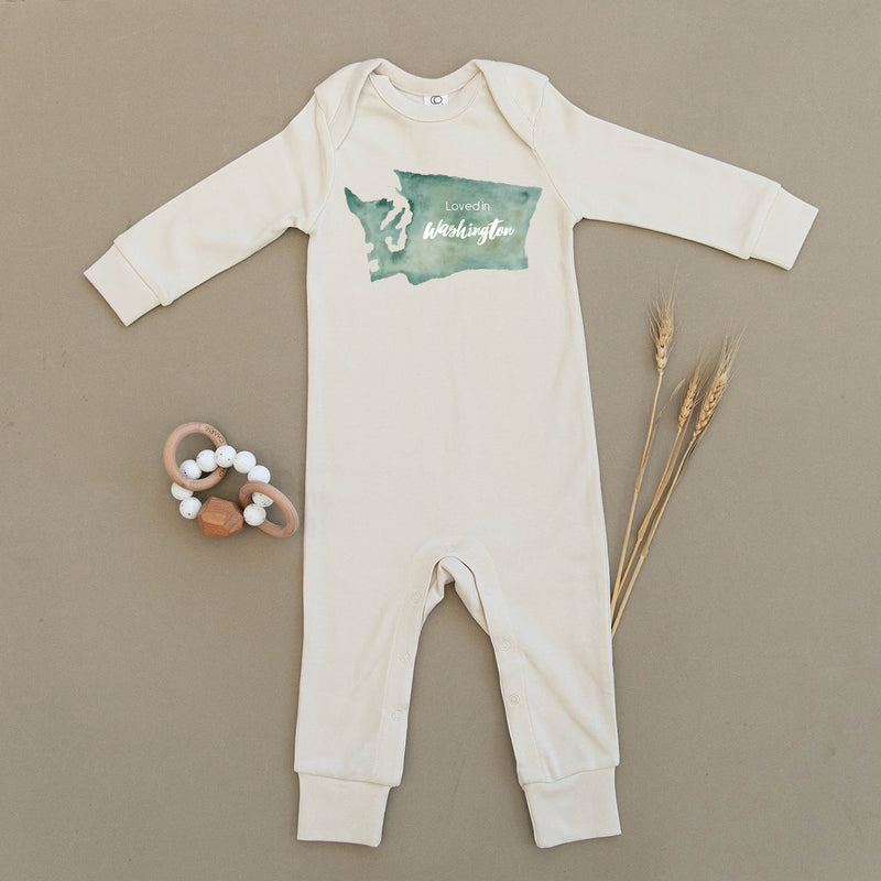 Loved in Washington Organic Baby Playsuit