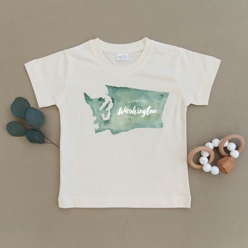 Loved in Washington Organic Toddler Tee