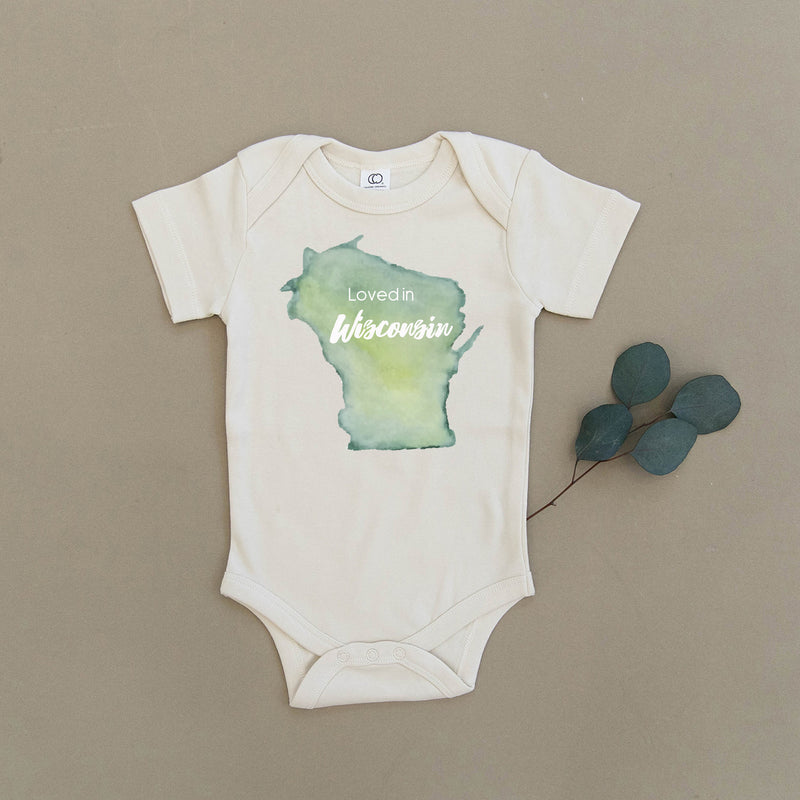 Loved in Wisconsin Organic Baby Onesie®