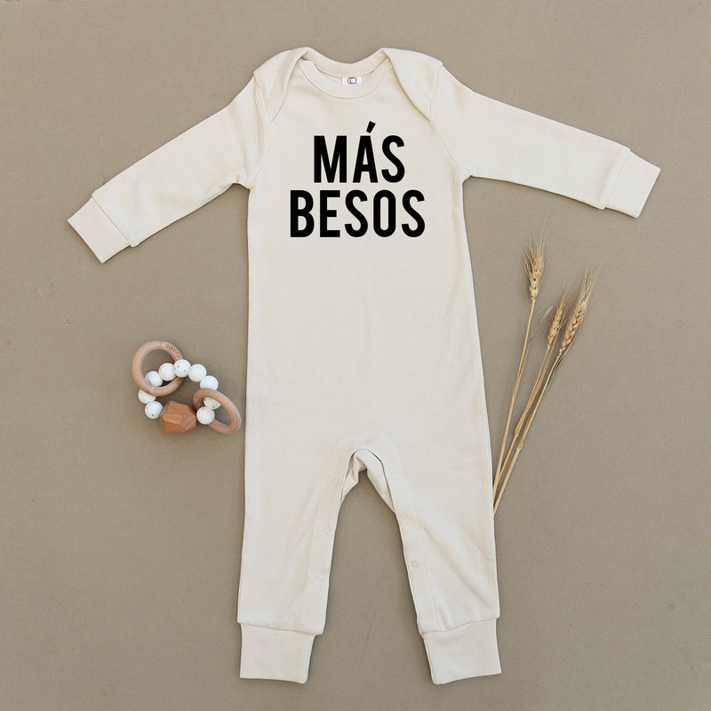 Mas Besos, More Kisses, Organic Baby Playsuit