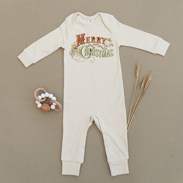 Merry Christmas Shitters Full Organic Baby Playsuit