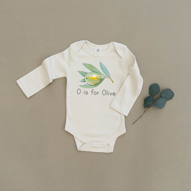 O is for Olive Organic Baby Onesie®