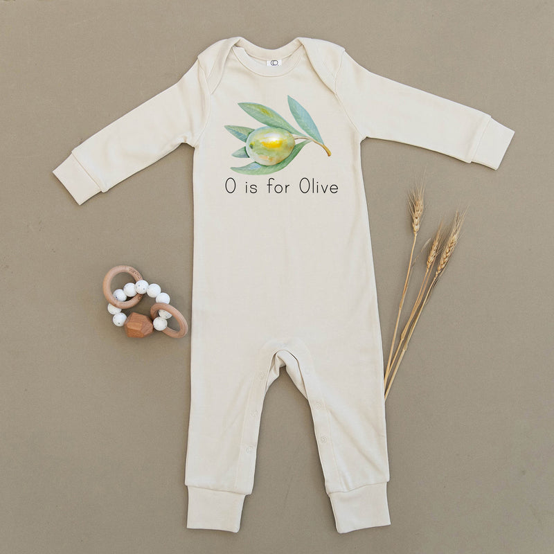 O is for Olive Organic Baby Playsuit