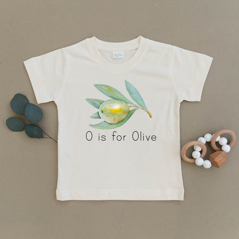 O is for Olive Organic Toddler Tee