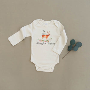 Oh Deer, It's My First Christmas Organic Baby Onesie®