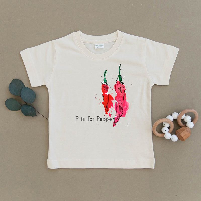 P is for Pepper Organic Toddler Tee