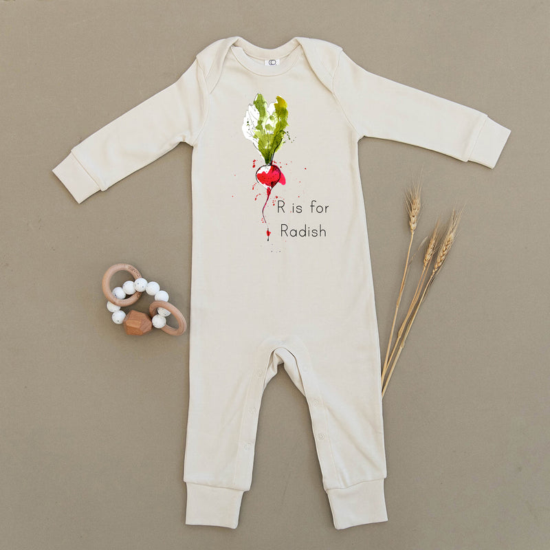 R is for Radish Organic Baby Playsuit