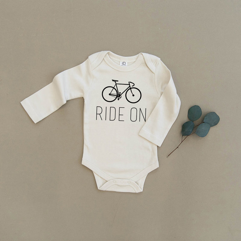 Ride On Bicycle Organic Baby Onesie®
