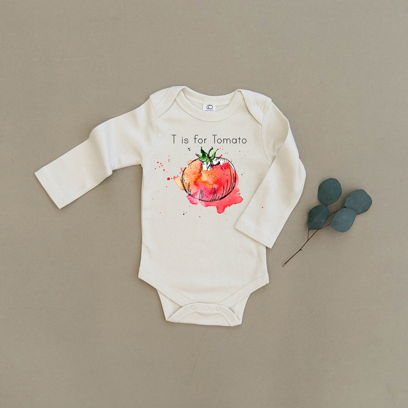 T is for Tomato Organic Baby Onesie®