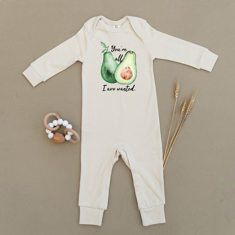 You're All I Avo Wanted Avocado Organic Baby Playsuit