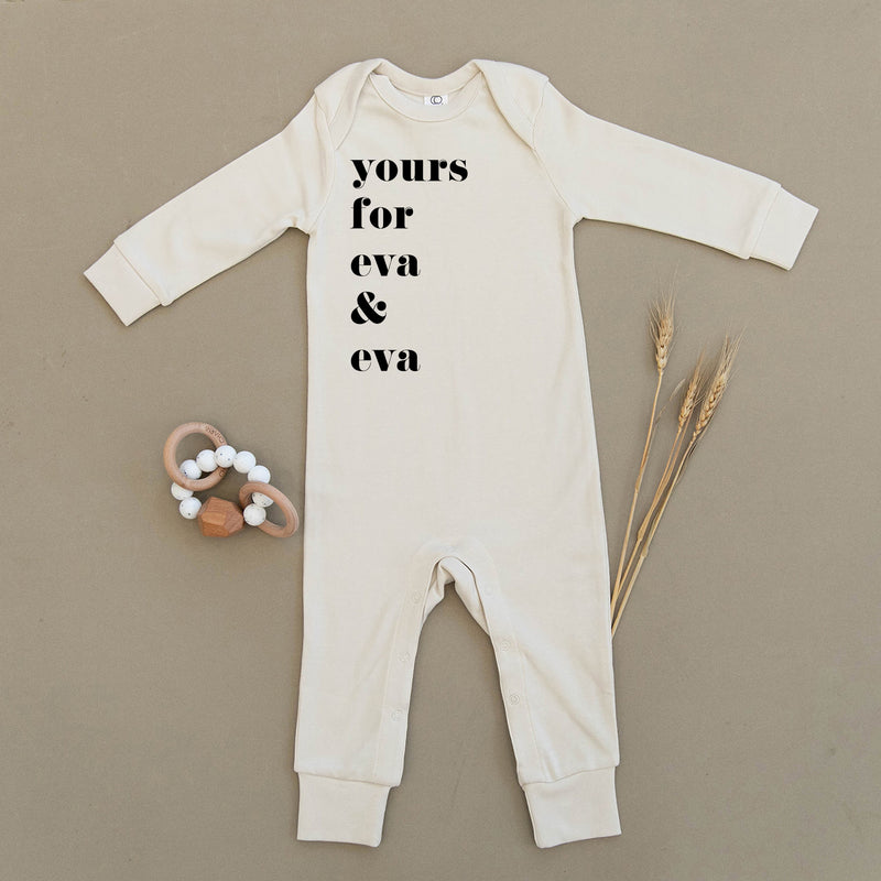 Yours For Eva & Eva Organic Baby Playsuit
