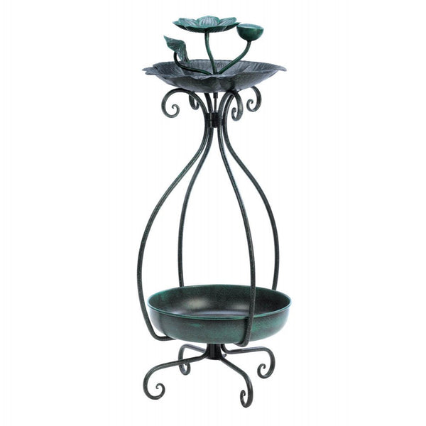 Decorative Metal Bird Feeder Plant Stand