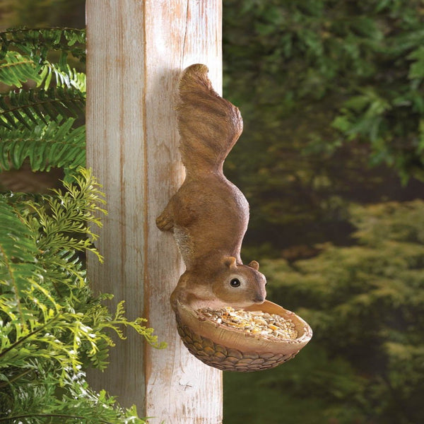 Scurrying Squirrel Hanging Bird Feeder