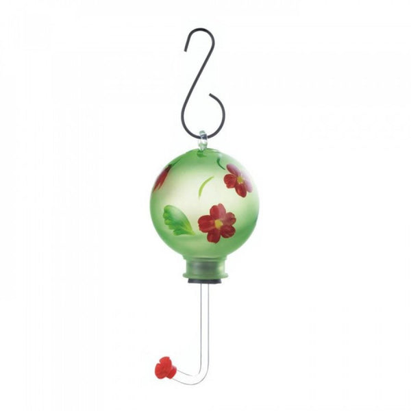 Green Globe Flower Hummingbird Feeder